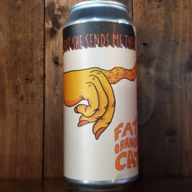 Fat Orange Cat Brew Co. Fat Orange Cat I Don't Know Where, But She Sends Me There NE DIPA, 9% ABV, 16oz Can
