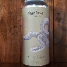 Marlowe Artisanal Ales Marlow-The Way I See It Lager, 5% ABV, 16oz Can