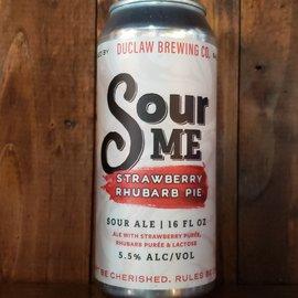 DuClaw Brewing Company DuClaw-Sour Me Strawberry Rhubarb Pie Sour Ale, 5.5% ABV, 16oz can