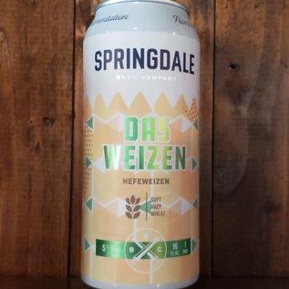 Springdale Beer Company Springdaile-Das Weizen Hefeweizen, 5% ABV, 16oz Can