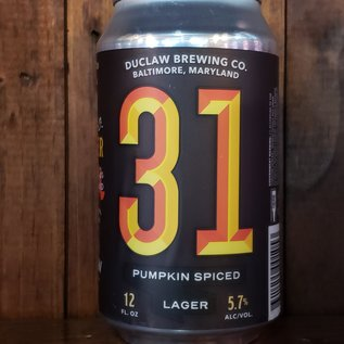 DuClaw 31 Pumpkin Spiced Lager, 5.7% ABV, 12oz Can