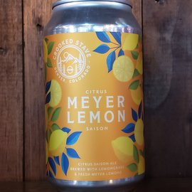 Crooked Stave Crooked Stave-Meyer Lemon Citrus Saison, 5% ABV, 12oz Can