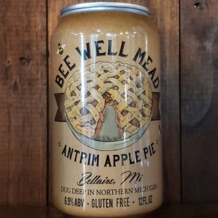 Bee Well Antrim Apple Pie Mead, 6.9% ABV, 12oz Can