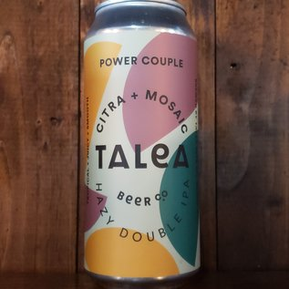 Talea Power Couple: Citra+Mosaic Hazy DIPA, 8% ABV, 16oz Can