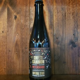 Interboro Confetti Cannon Stout, 13% ABV, 500ml Bottle