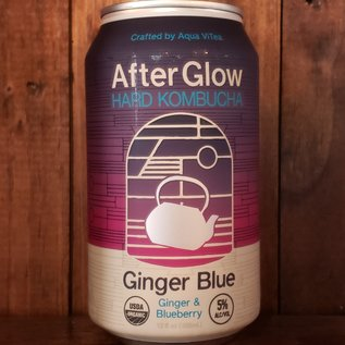 Aqua Vitea After Glow Ginger Blue Hard Kombucha, 5% ABV, 12oz Can