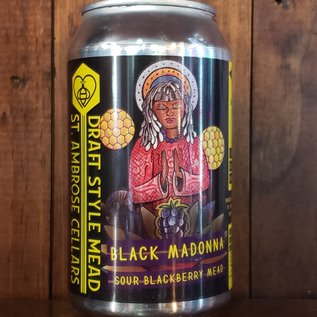 St. Ambrose Black Madonna Mead, 6% ABV, 12oz Can