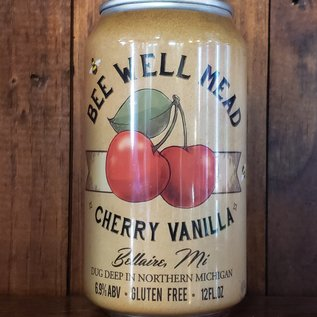 Bee Well Cherry Vanilla Mead, 6.9% ABV, 12oz Can