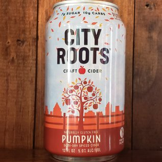 City Roots Pumpkin Cider, 5% ABV, 12oz Can