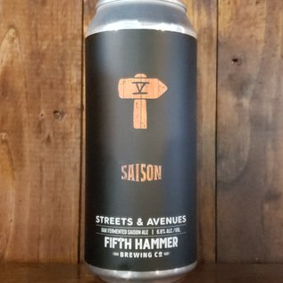 Fifth Hammer Streets & Avenues Saison, 6.8% ABV, 16oz Can