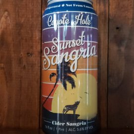 Coyote Hole Sunset Sangria Cider, 5.6% ABV, 16oz Can