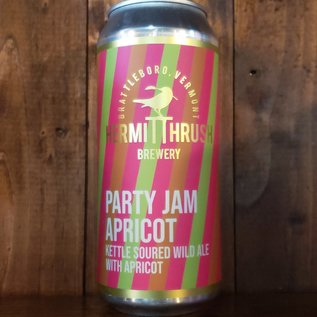 Hermit Thrush Party Jam Apricot Sour Ale, 5.9% ABV, 16oz Can