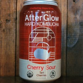After Glow Hard Kombucha Cherry Sour, 5% ABV, 12oz Can