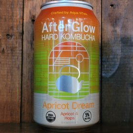 After Glow Hard Kombucha Apricot Dream, 5% ABV, 12oz Can