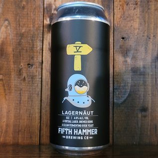 Fifth Hammer Lagernaut Virtual Lager, 4.8% ABV, 16oz Can