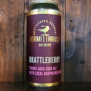 Hermit Thrush Brattleberry Sour Ale, 5.7% ABV, 16oz Can