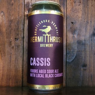 Hermit Thrush Cassis Sour Ale, 5.7% ABV, 16oz Can