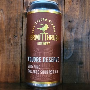 Hermit Thrush Foudre Reserve 2019 Flanders Red Ale, 7.8% ABV, 16oz Can