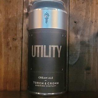 Torch & Crown Utility Cream Ale, 5.5% ABV, 16oz Can