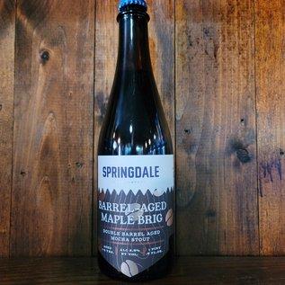 Springdale Barrel-Aged Maple Brig Stout, 8.5% ABV, 500ml Bottle