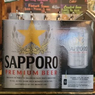 Sapporo Premium Beer Lager, 4.9% ABV, 12 Pack Cans