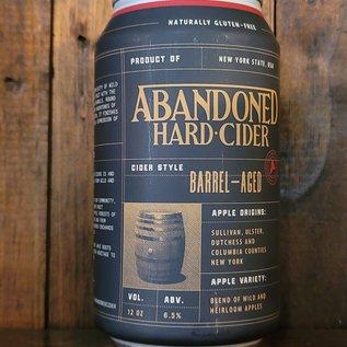 Abandoned Hard Cider Barrel-Aged, 6.5% ABV, 12oz Can