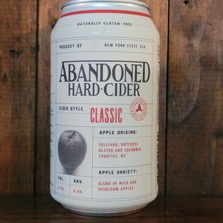 Abandoned Hard Cider Classic, 6% ABV, 12oz Can