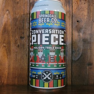 Springdale Conversation Piece Holiday Table Beer, 6.8% ABV, 16oz Can