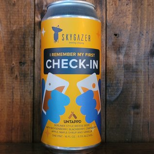 Skygazer I Remember My First Check-In Sour Ale, 5.5% ABV, 16oz Can