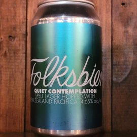 Folksbier Quiet Contemplation Lager, 4.65% ABV, 12oz Can