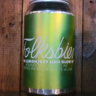 Folksbier Pink Lemon/Key Lime Glow Up Sour Ale, 4.5% ABV, 12oz Can