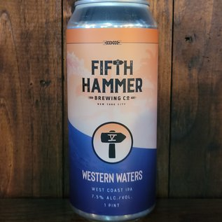 Fifth Hammer Western Waters West Coast IPA, 7.5% ABV, 16oz Can