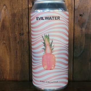 Evil Water Pink Pineapple Hard Seltzer, 4.5% ABV, 16oz Can