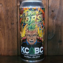 KCBC This Is Your Brain On Hops: Citra & Galaxy DDH DIPA, 8.5% ABV, 16oz Can