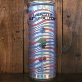 Evil Water Pastry Seltzer Blueberry Blackcurrant Cherry, 5% ABV, 12oz Can