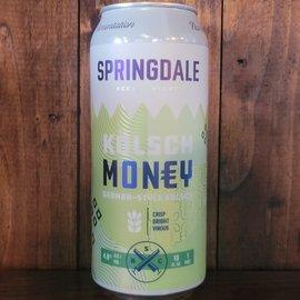 Springdale Kolsch Money, 4.8% ABV, 16oz Can