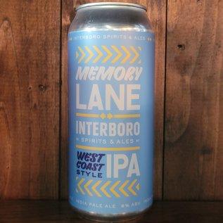 Interboro Memory Lane West Coat IPA, 6% ABV, 16oz Can