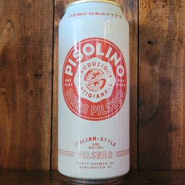 Zero Gravity Pisolino Italian-Style Pilsner, 5.5% ABV, 16oz Can