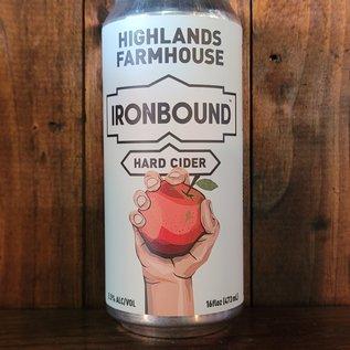 Ironbound Highlands Farmhouse Cider, 5.5% ABV, 16oz Can