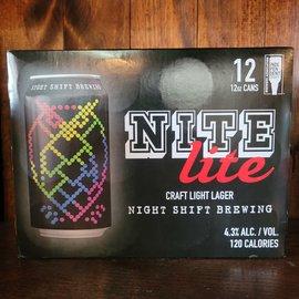 Night Shift Nite Lite Lager, 4.3% ABV, 12 Pack
