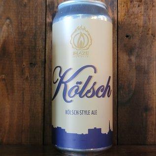 Blaze Kolsch, 5.2% ABV, 16oz Can