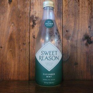 Sweet Reason Cucumber Mint Hemp-Infused Sparkling Water, 12oz Bottle