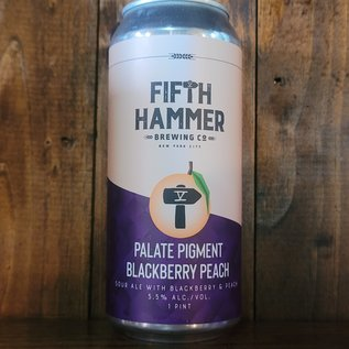 Fifth Hammer Palate Pigment: Blackberry Peach Sour Ale, 5.5% ABV, 16oz Can