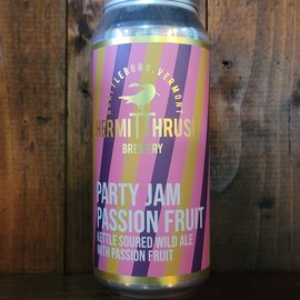 Hermit Thrush Party Jam Passion Fruit Sour Ale, 5.9% ABV, 16oz Can