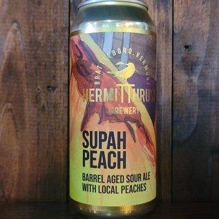 Hermit Thrush Supah Peach Sour Ale, 7% ABV, 16oz Can