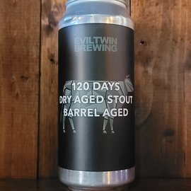 Evil Twin 120 Days Dry Aged Stout Barrel Aged, 17.5% ABV, 16oz Can