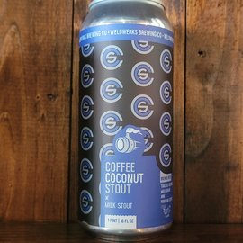 WeldWerks Coffee Coconut Stout, 8% ABV, 16oz Can