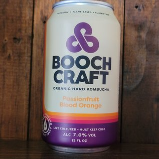 Boochcraft Passionfruit Blood Orange Hard Kombucha, 7% ABV, 12oz Can