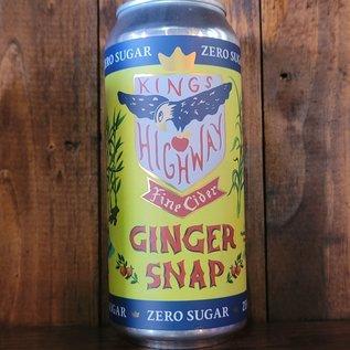 King's Highway Ginger Snap Cider, 6.9% ABV, 16oz Can