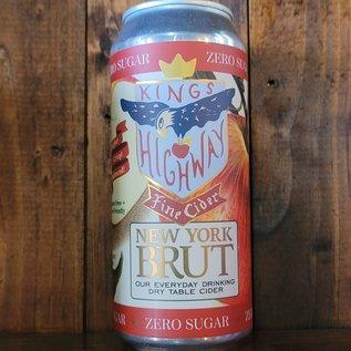 King's Highway New York Brut Cider, 6.9% ABV, 16oz Can